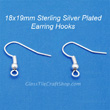 Earring Wire Hooks Sterling Silver Plated