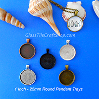 25mm Round Pendant Tray Blank