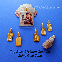 Gold Tone Tag Bail 21x7