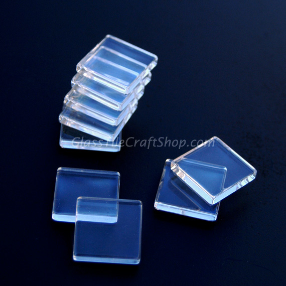 Square Gl Cabochon 25mm Flat