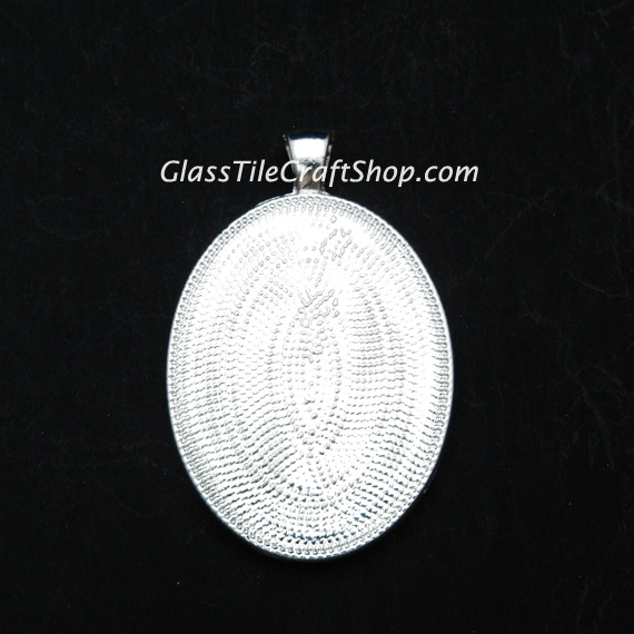 Oval Pendant Tray Blank Back Side