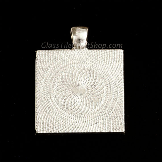 Square Pendant Tray Blank Back Side