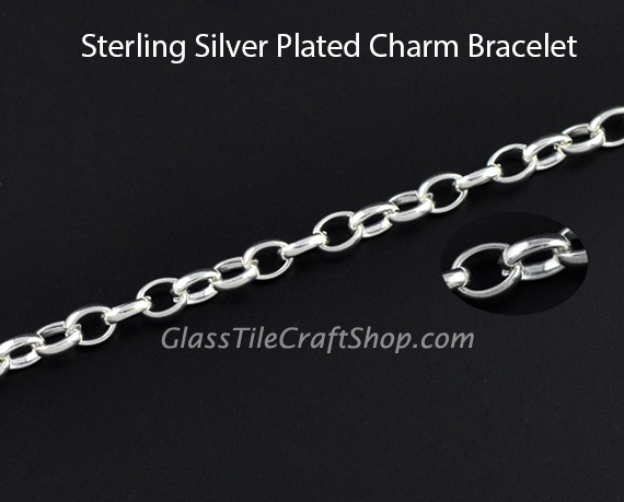 Charm Bracelet Close Up Clasp and Chain