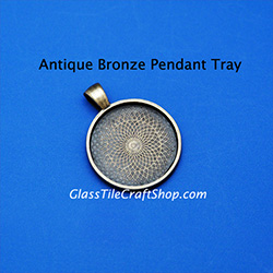Antique Bronze 25mm Round Pendant Tray