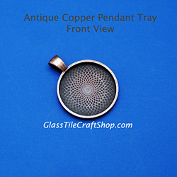 Antique Copper 25mm Round Pendant Tray