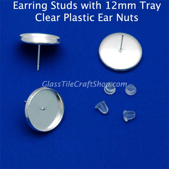 12mm Earring Stud Blank