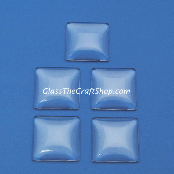 Square Glass Cabochon 25mm Domed