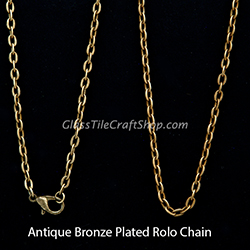 Antique Bronze Rolo Chain