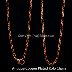 Antique Copper Rolo Chain
