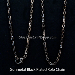 Gunmetal Black Rolo Chain