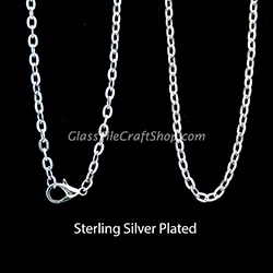 Sterling Silver Plated Rolo Chain