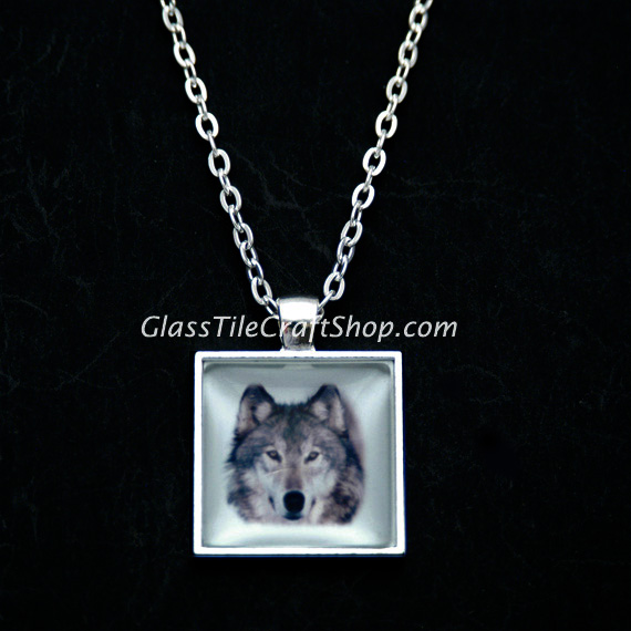 Square Pendant Tray Finished Necklace