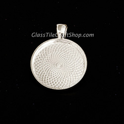 Sterling Silver Plated 25mm Round Pendant Tray