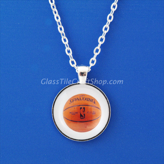 Glass Cabochon Pendant with Bezel Setting Tray